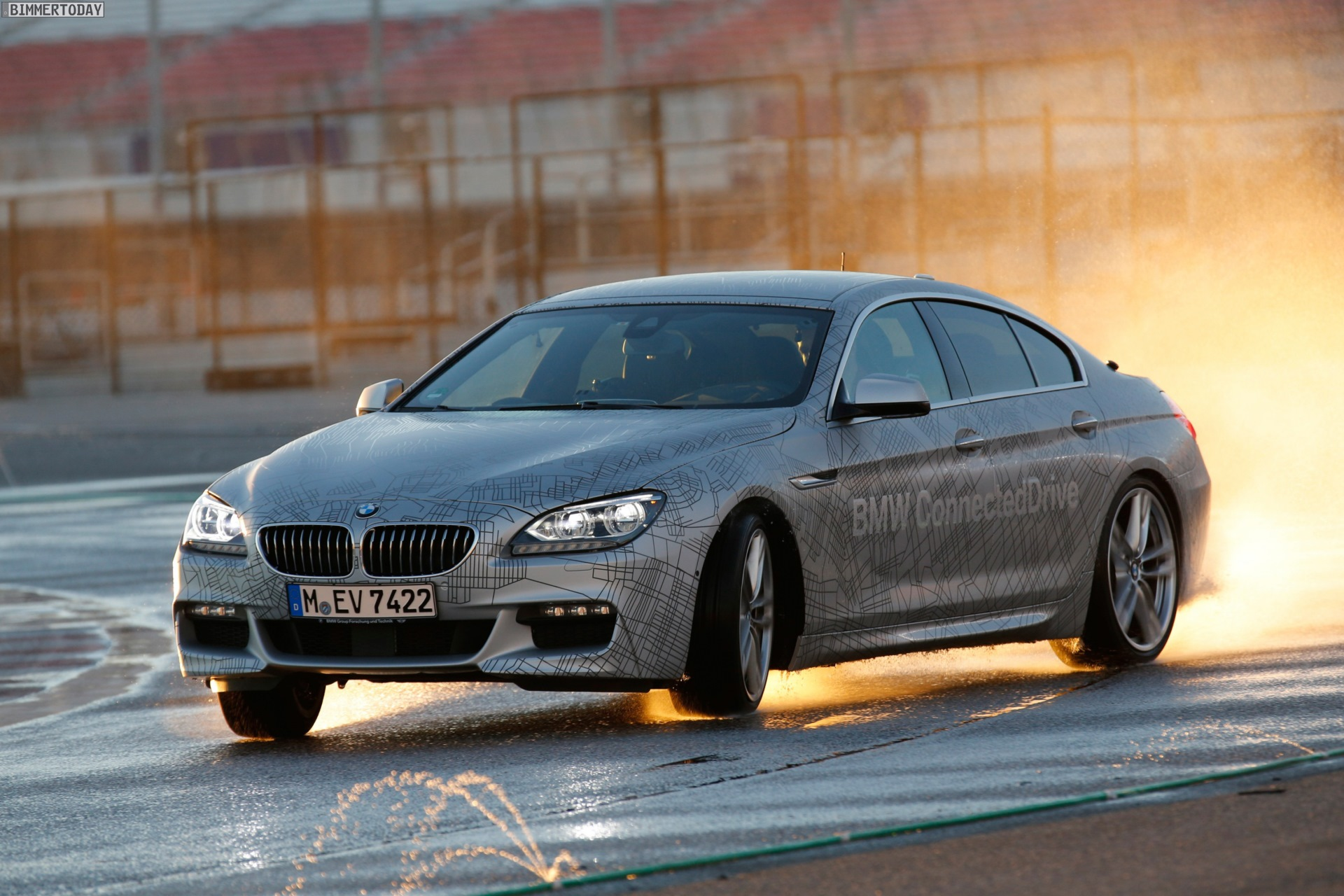 Bmw 6er F06 Neue Fotos Und Video Vom Self Drifting Car In Las Vegas