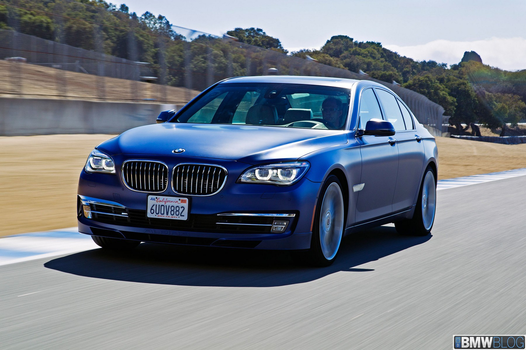 Bmw Alpina B7 Facelift In Alpina Blau Matt Bilder Aus
