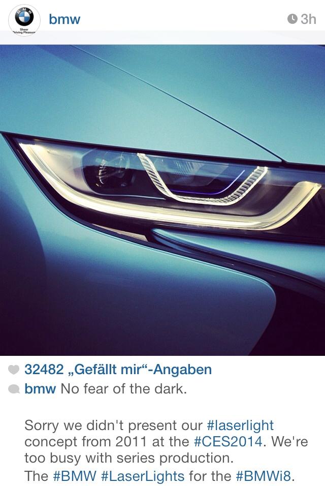 BMW-Laser-Scheinwerfer-i8-vs-Audi-CES-2014-Werbe-Duell