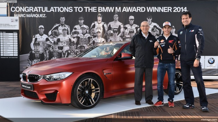 BMW-M-Award-2014-Marc-Marquez-BMW-M4-Frozen-Red-MotoGP