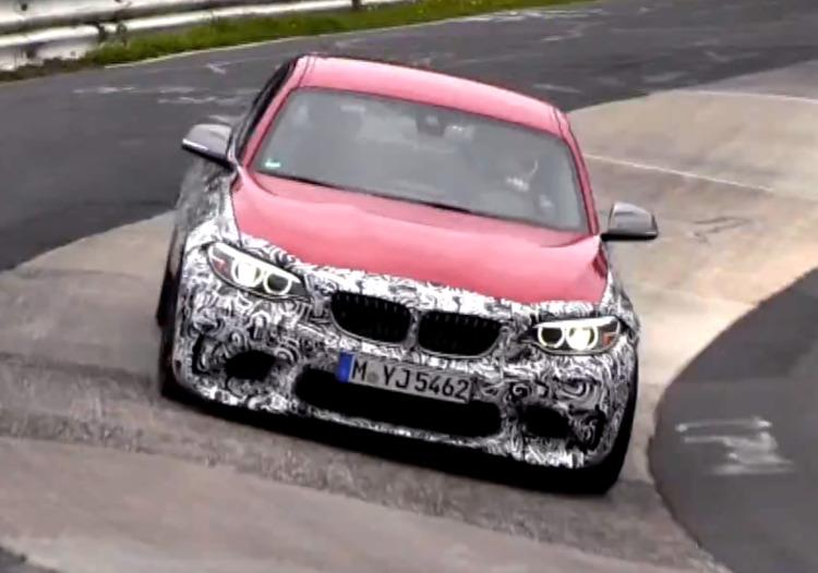 BMW-M2-F87-Erlkoenig-Video-Nuerburgring-Melbourne-Rot