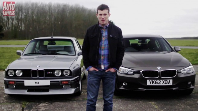 BMW-M3-E30-vs-BMW-320d-F30-Video-Drag-Race