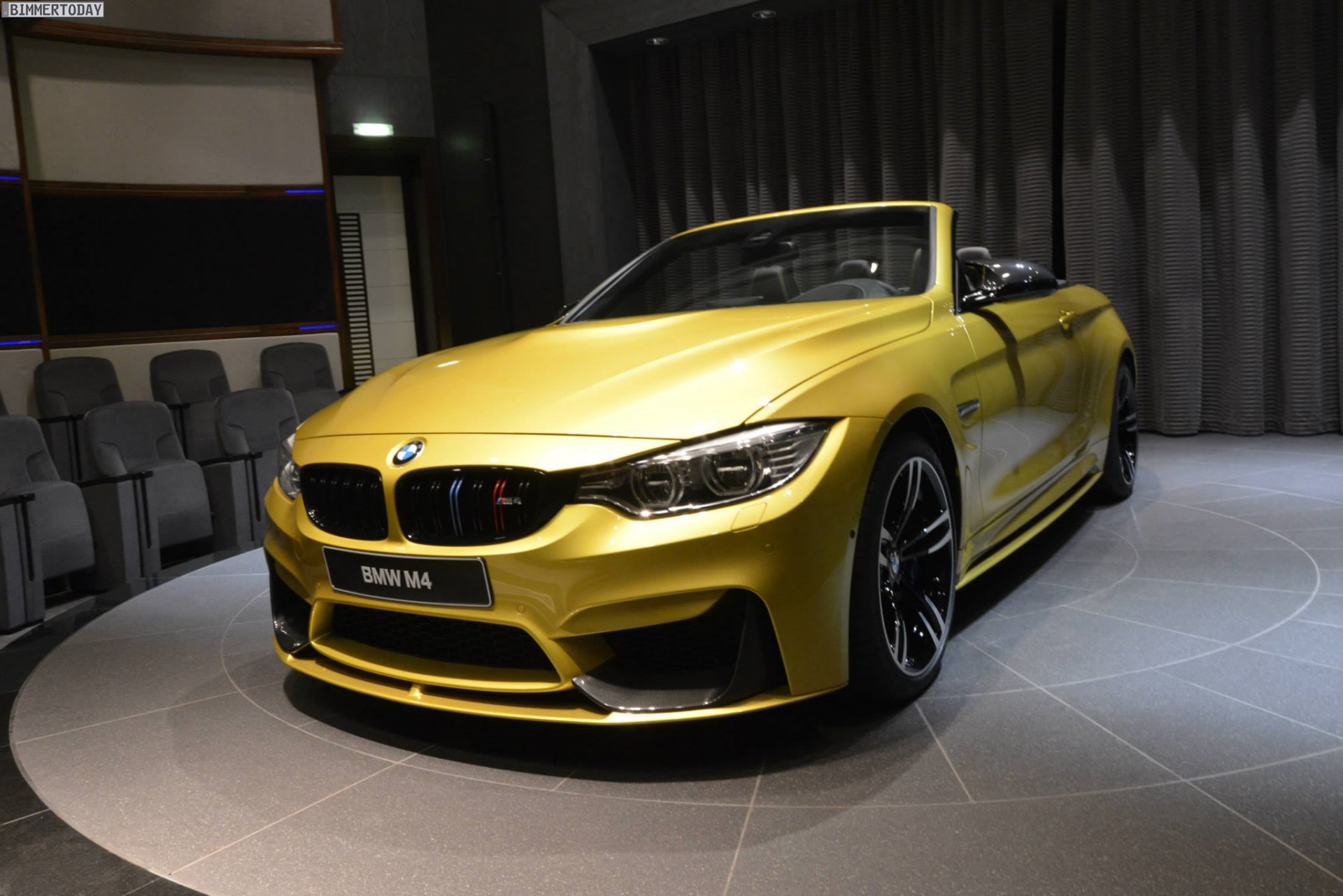 Austin Yellow Bmw M4 Cabrio Mit Bmw M Performance Tuning