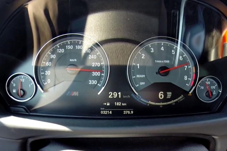 BMW M4 Tacho Video 291 Km H Vmax Und Launch Control Start