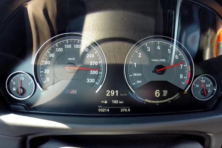 BMW-M4-Tacho-Video-291-kmh-Beschleunigung