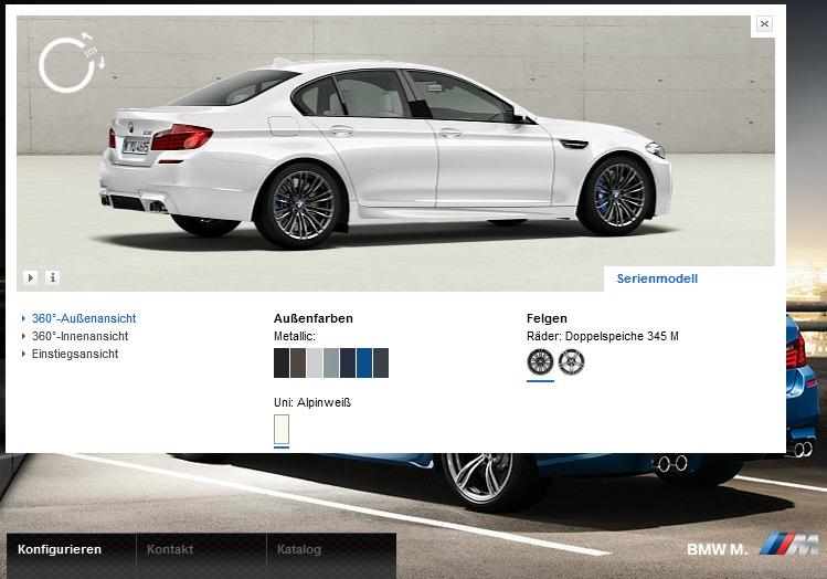 Visualizer und Katalog zum neuen BMW M5 F10 nun online verfügbar