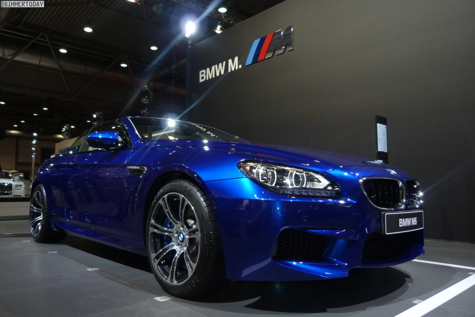 ami leipzig 2012 bmw m6 cabrio f12 in san marino blau metallic. Black Bedroom Furniture Sets. Home Design Ideas