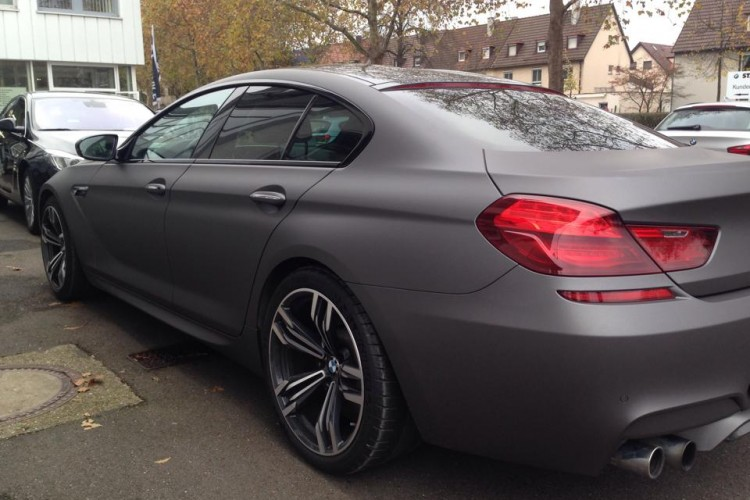 Bmw M6 Gran Coup 233 Folierung In Frozen Dark Nardo Grey