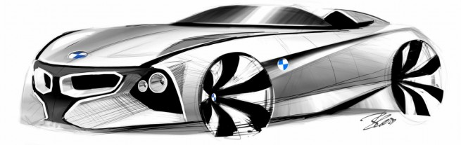 BMW-Vision-ConnectedDrive-Concept-Car-Skizze