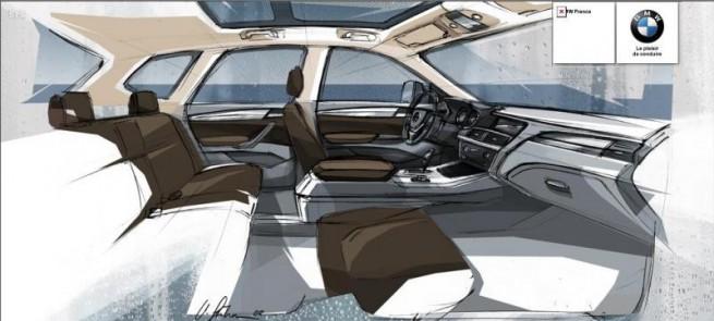 BMW-X3-F25-Interieur-Zeichnung