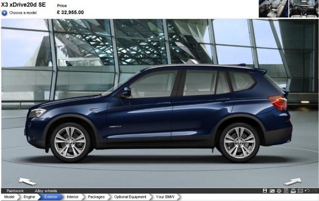 BMW-X3-F25-Konfigurator
