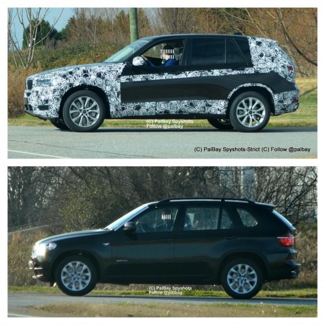 BMW-X5-F15-2013-Vergleich-E70-Spyshot-Palbay