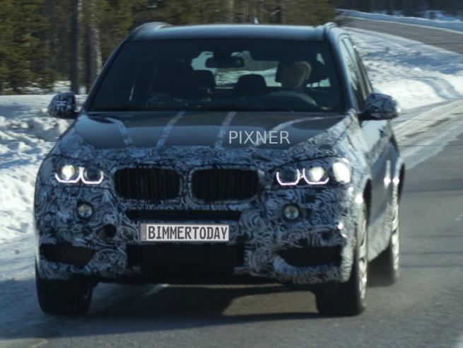 BMW-X5-F15-Scheinwerfer-LED-Tagfahr-Licht-Ringe-Erlkoenig