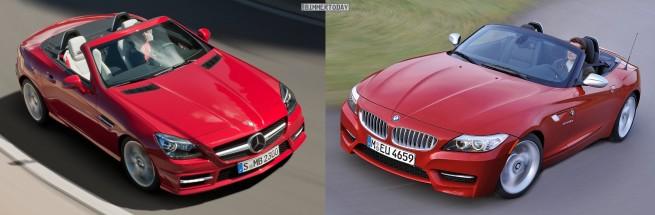 BMW-Z4-E89-Mercedes-SLK-R172-Front-oben