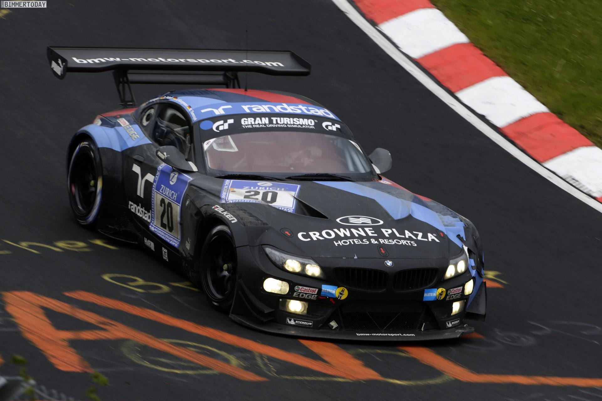 24h N 252 Rburgring 2014 Vier Bmw Z4 Gt3 Von Schubert Und