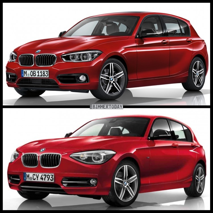 Bild-Vergleich-BMW-1er-Facelift-2015-Sport-Line-F20-LCI-vs-Pre-Facelift
