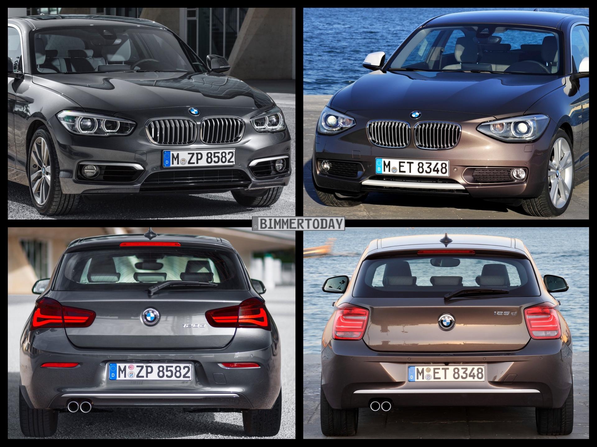 Bild Vergleich Bmw 1er 2015 Im Vergleich Zum Vor Facelift F20