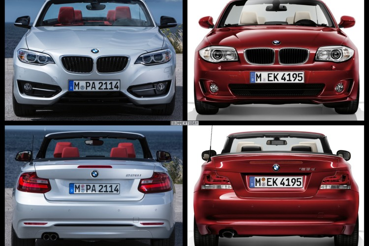 bild vergleich bmw 2er cabrio f23 trifft bmw 1er cabrio e88. Black Bedroom Furniture Sets. Home Design Ideas