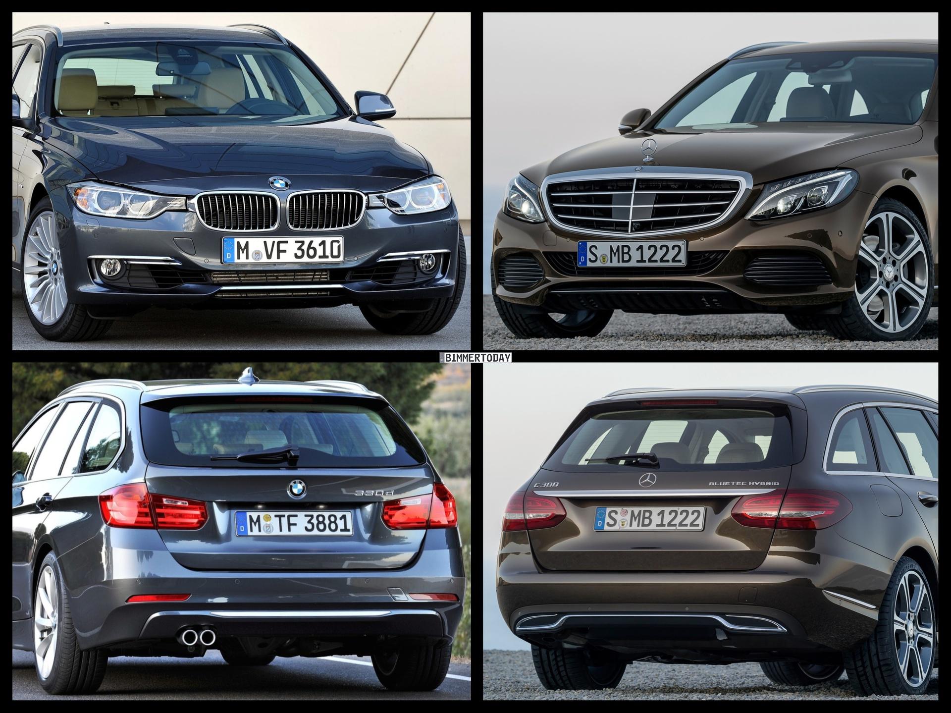 Bild Vergleich Mercedes C Klasse T Modell 2014 Trifft Bmw