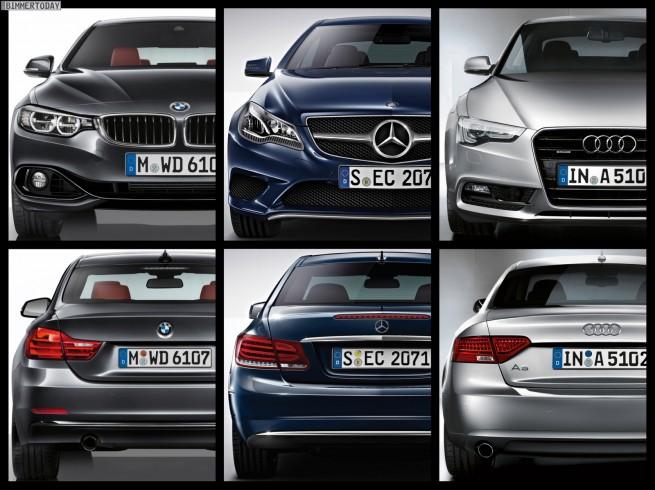 Bild-Vergleich-BMW-4er-Coupe-F32-Mercedes-E-Klasse-Audi-A5