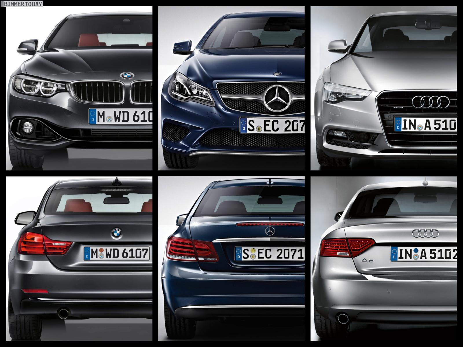 Bild Vergleich Bmw 4er F32 Audi A5 Und Mercedes E Klasse