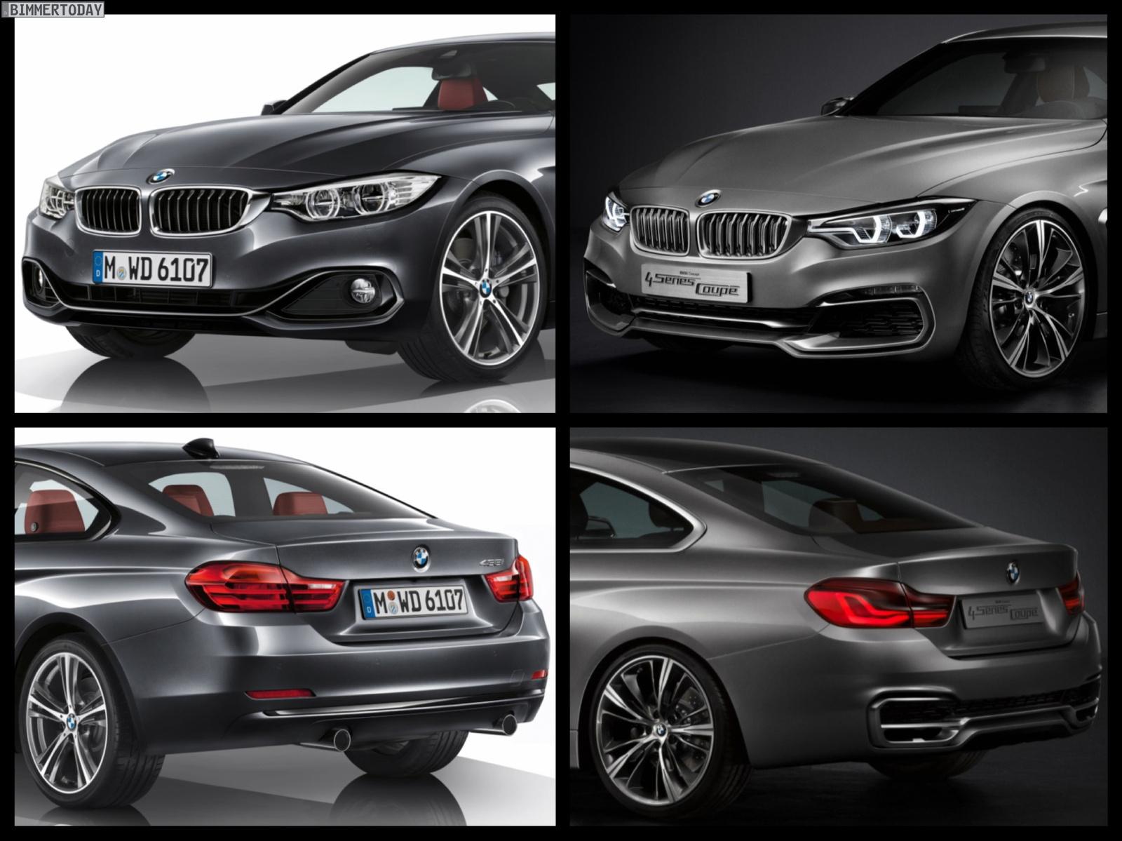 Bild-Vergleich Studie vs. Serie: BMW 4er Coupé F32 trifft ...