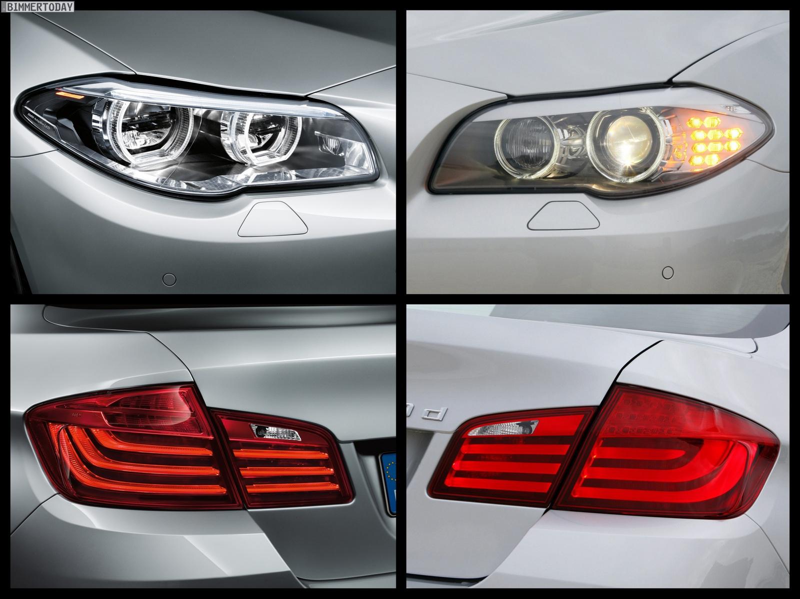 Bild Vergleich Bmw 5er Facelift 2013 Mit Pre Facelift F07