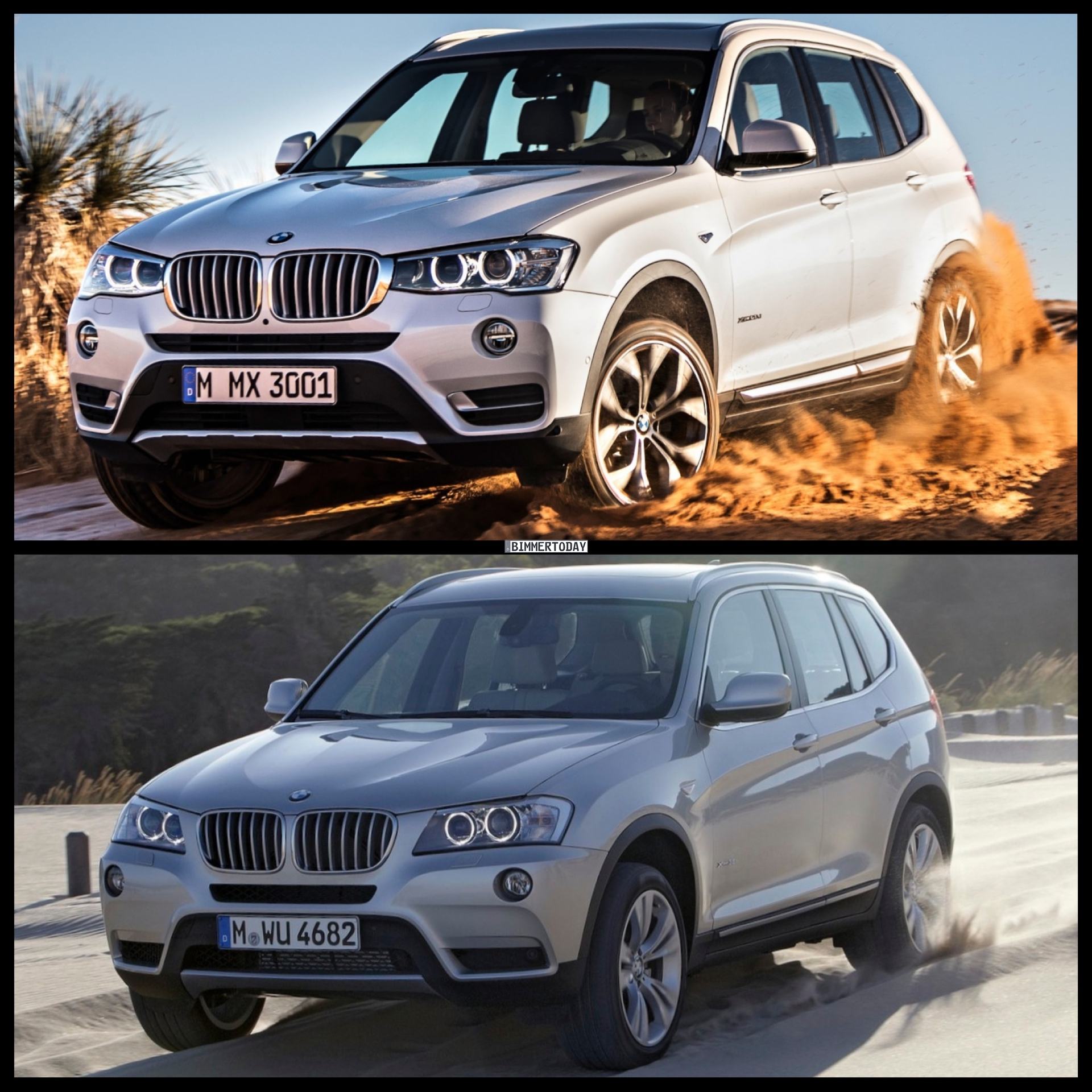 Bild Vergleich Bmw X3 Facelift 2014 F25 Lci Trifft Pre Facelift
