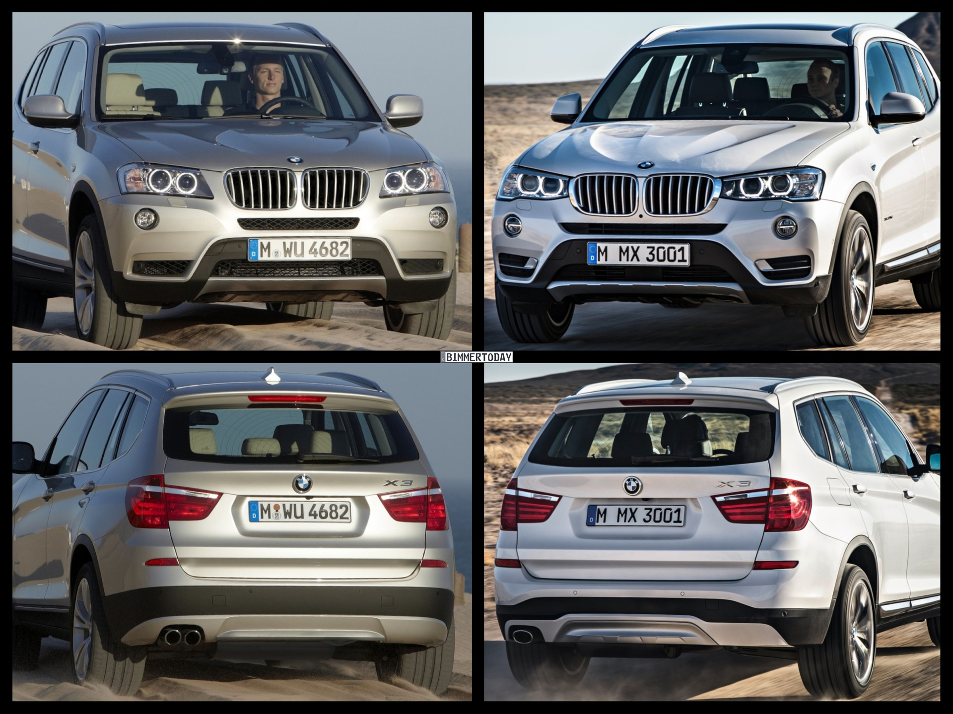 Bild-Vergleich: BMW X3 Facelift 2014 (F25 LCI) trifft Pre ...
