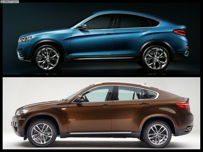 Bild-Vergleich-BMW-X4-Concept-F26-BMW-X6-E71-03
