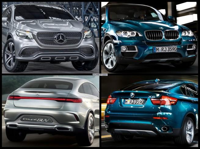 Bild-Vergleich-BMW-X6-E71-LCI-Mercedes-Coupe-SUV-Concept-2014-01