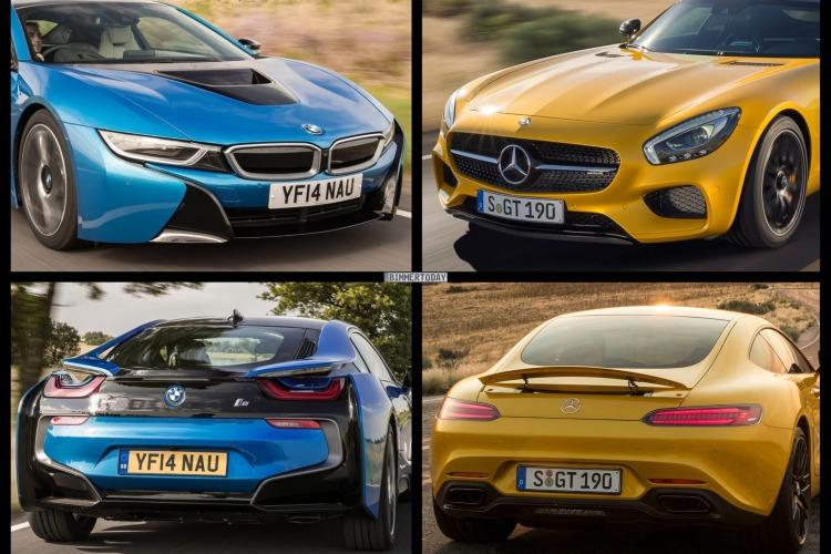 Bild Vergleich Mercedes Gt Vs Bmw I8 Im Sportwagen Duell