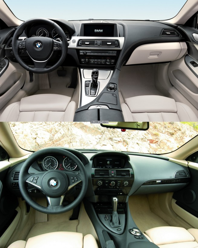 Bildvergleich-BMW-6er-Coupé-F13-6er-E63-Interieur