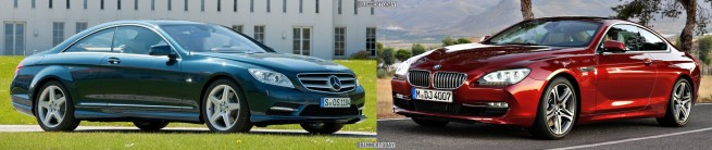 Bildvergleich-BMW-6er-Coupe-F13-Mercedes-CL-Front2