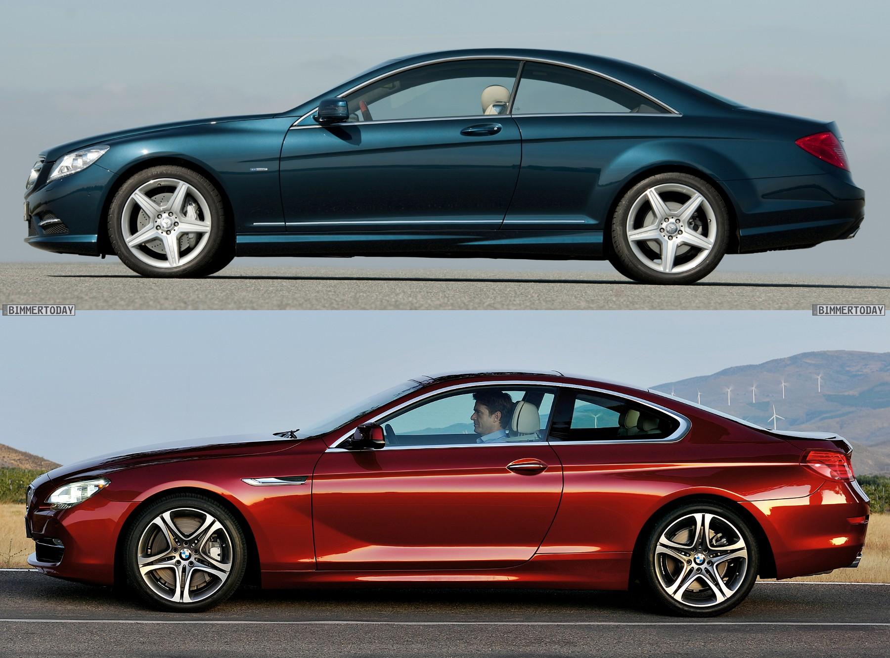 Bildvergleich Das Bmw 6er Coup 233 F13 Und Die Mercedes Cl Klasse