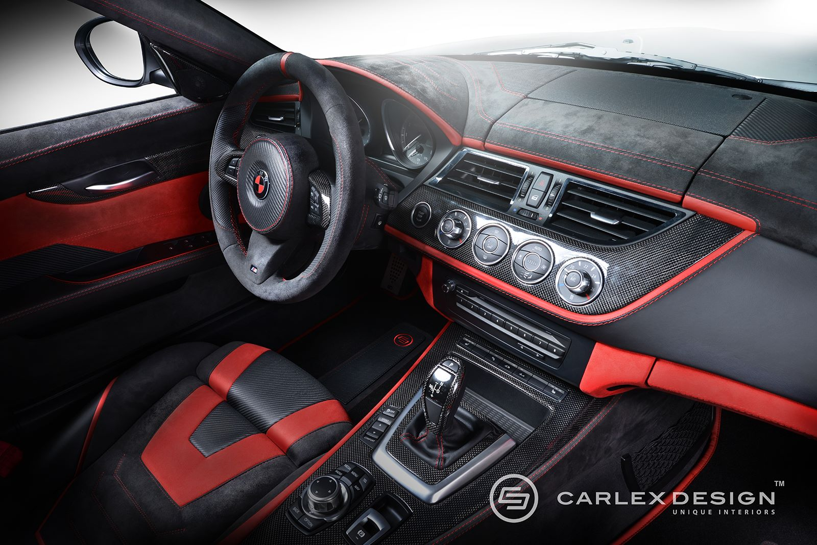 carlex design bmw z4 red carbonic mit tuning innenraum. Black Bedroom Furniture Sets. Home Design Ideas