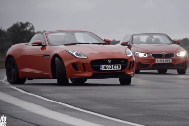 Drift Video Bmw M4 Cabrio Trifft Jaguar F Type S Roadster