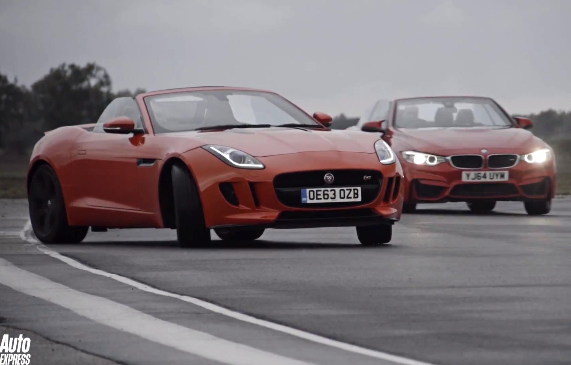 Drift Video Bmw M4 Cabrio Trifft Jaguar F Type S Roadster