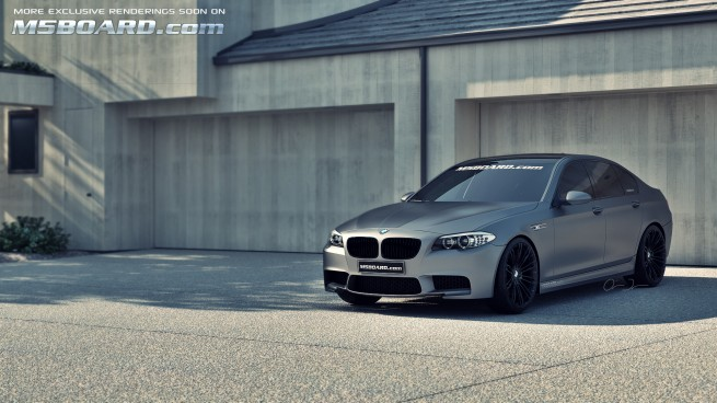 Frozengraybmwm5f10blackwheelsm5boardcom
