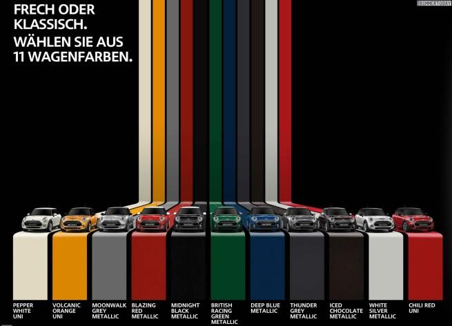 MINI-F56-Farben-Farb-Palette