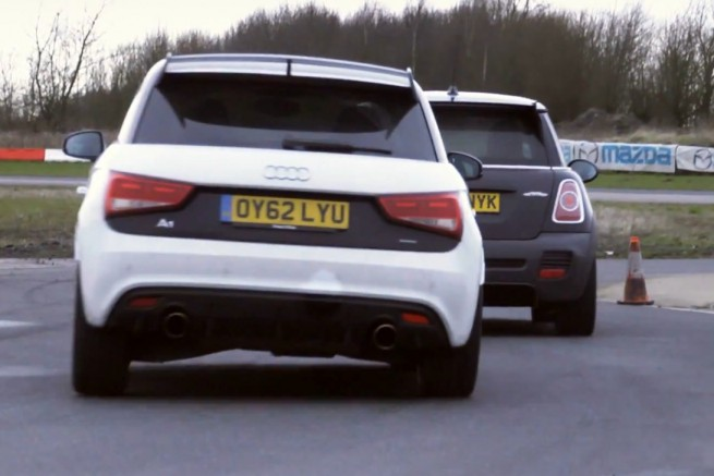MINI-John-Cooper-Works-GP-R56-vs-Audi-A1-quattro-Video