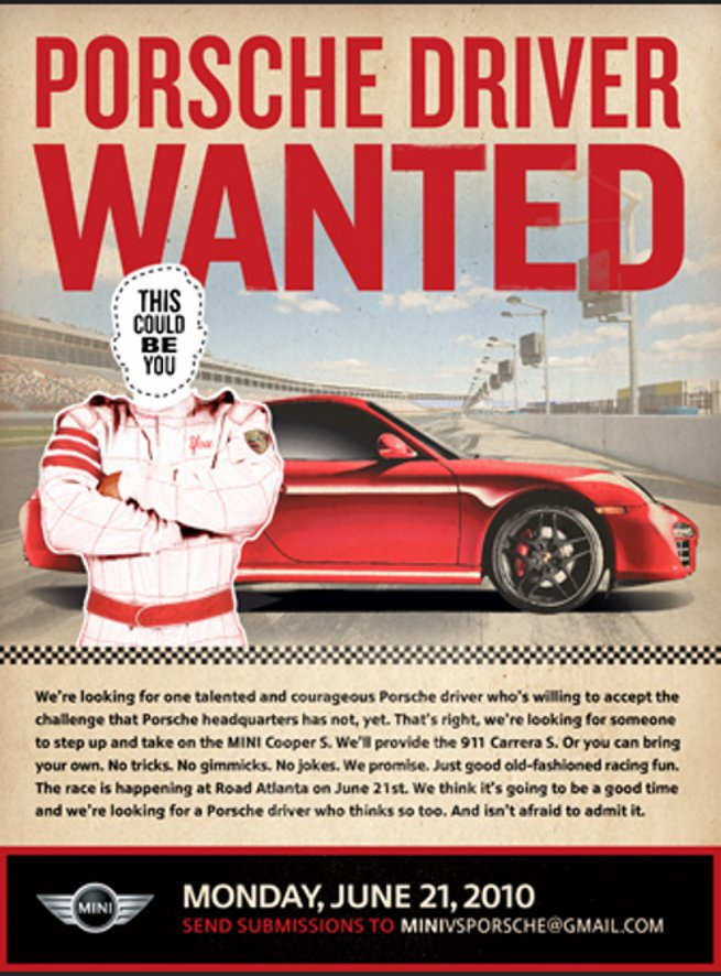 MINI-vs-Porsche-Driver-Wanted