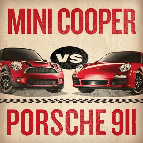 MINI-vs-Porsche