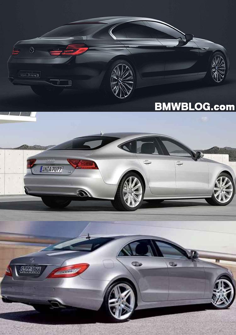 Bildvergleich Bmw 6er Gran Coupé Vs Audi A7 Vs Mercedes Cls